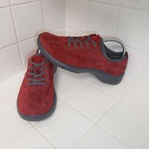 Dansko Elise Red Suede Walking Shoes Size 41